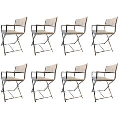 Baughman Dining Chairs Set of Eight Lucite and Chrome