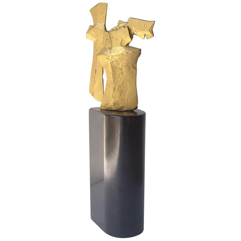 "Dimitri Hadzi Abstract Bronze Sculpture ""Talos 1"", Signed 1"
