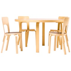Dining Sets Model 91/66 by Alvar Aalto for Artek Finland