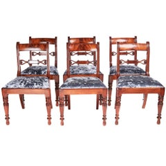 Fine Set of Six Regency Mahogany Dining Chairs
