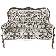 Fantastic Quality Victorian Carved Mahogany Settee