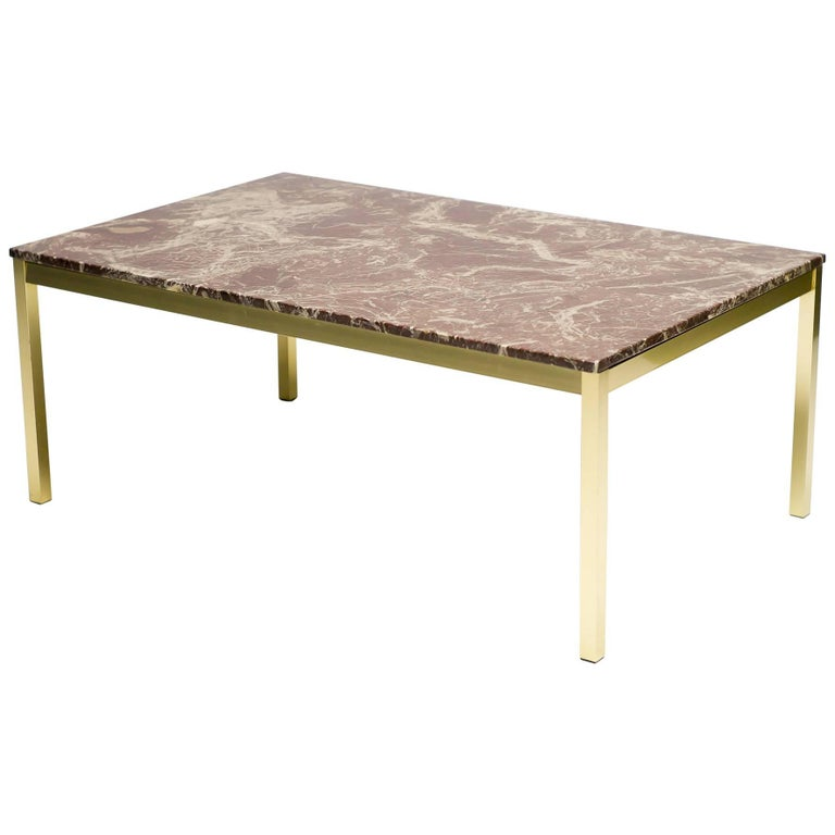 Danish Architectural Marble Coffee Table