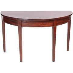 Georgian Mahogany Demilune Console Table