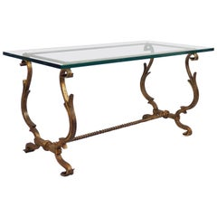 1940s Wrought Iron Coffee Table