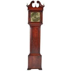 George II Brass Face Red Walnut Longcase Clock