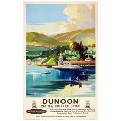Original Vintage British Railways Poster - Dunoon On The Firth of Clyde Scotland