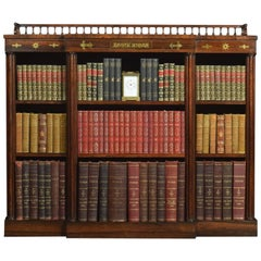 Regency Dwarf Brass Inlaid Open Bookcase