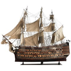 Mid-century HMS Victory wooden scale model Boat 270/220 cm