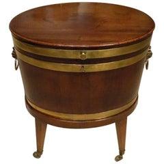 George III Period Cuban Mahogany Oval Lead Lined Wine Cooler
