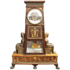 Egyptian Revival Grande Sonnerie Clock from the Biedermeier Period