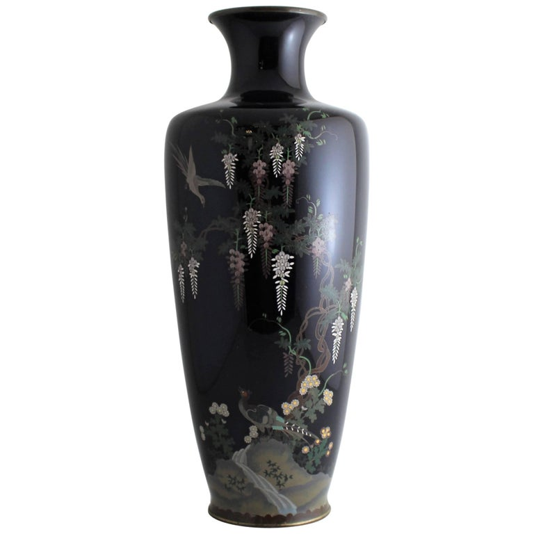 Japanese Meiji Period Cloisonne Vase For Sale