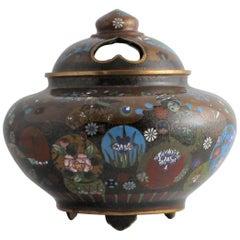 Japanese Meiji Period Cloisonne Censer