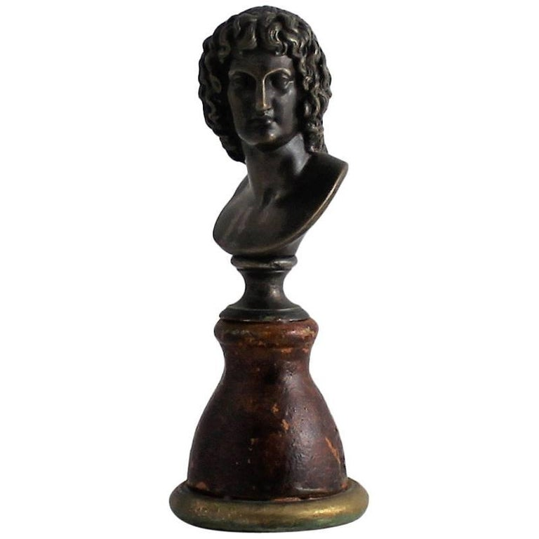 19th Century Classical Bronze Bust For Sale