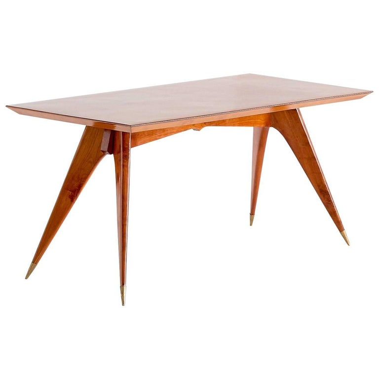 Melchiorre Bega Dining Table in Walnut, Italy, 1950s