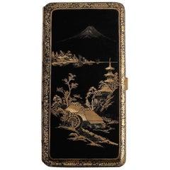 Japanese Meiji Period Damascene Cigarette Case