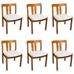 Set of Six Uldum Danish Modern Teak Dining Chairs
