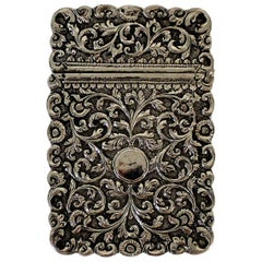 19th Century Sterling Silver Card Case