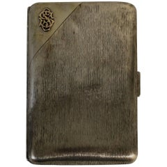 Russian Tsarist Silver Cigar Case