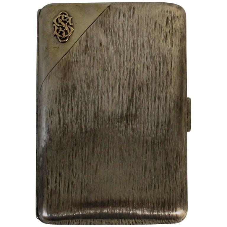 Russian Tsarist Silver Cigar Case