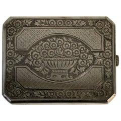 Russian Tsarist Silver Cigarette Case
