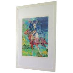 Artist LeRoy Neiman Prince Charles at Winsor Framed Art
