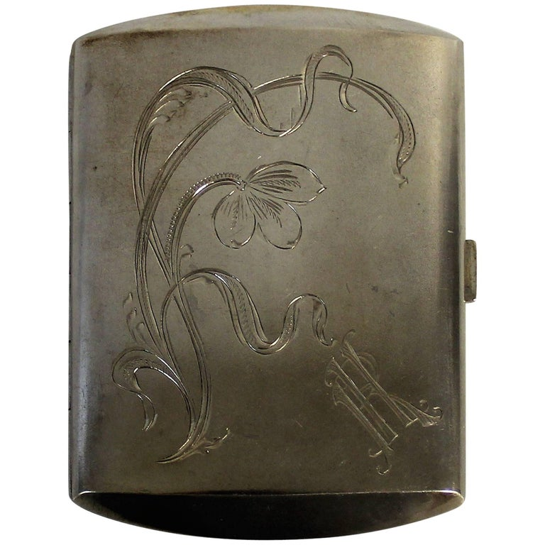 Krupski & Matulewicz Russian Tsarist Silver Cigarette Case