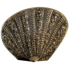 19th Century Persian Silver Clam Box