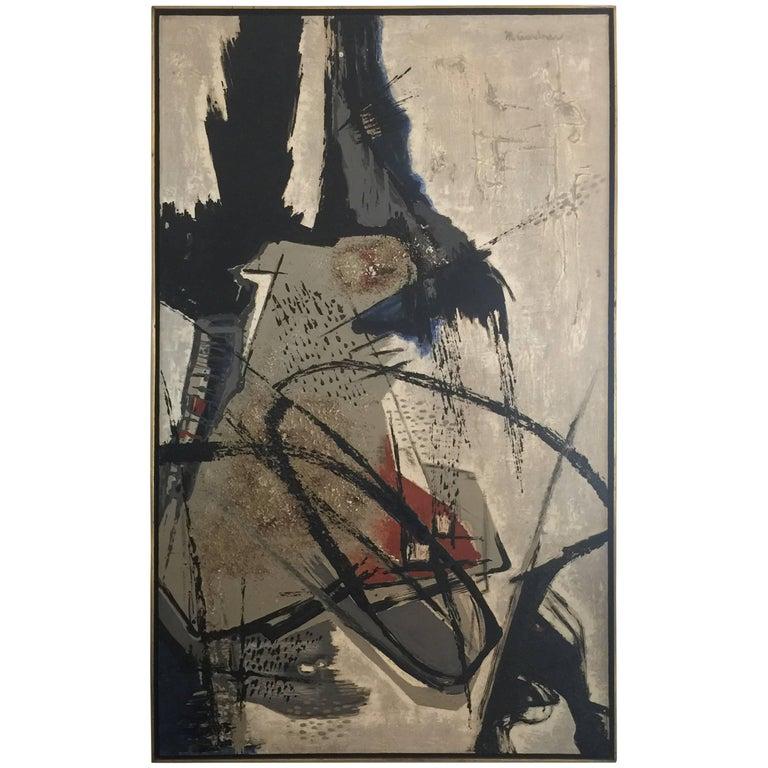 """""""Acrobats"""" Original Oil on Canvas, Mary Gardner Preminger, Signed For Sale"""