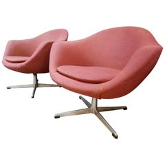 Swivel Lounge Chairs by Overman