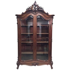 19th Century Louis XV Bookcase Walnut