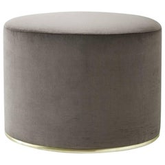 Lou Pouf / Ottoman with Brass Details by Gallotti & Radice