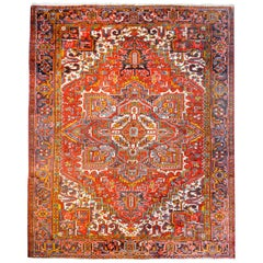 Wonderful Mid-20th Century Heriz Rug