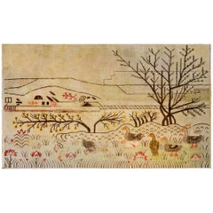 Whimsical Bucolic Pictorial Samaghand Rug