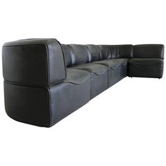 De Sede DS15 Seating Group Thick Black Neck Leather