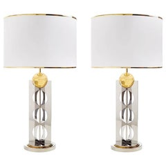 Berlin Brass and Stainless Steel Table Lamp