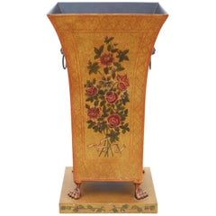 Antique Style Painted Decorated Steel Stick Umbrella Stand