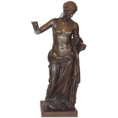 Monumental Bronze Sculpture of Diana of Gabii, Ferdinand Barbedienne