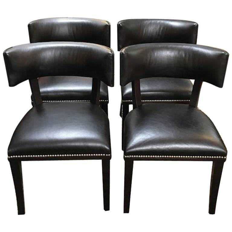 Set Of Four Ralph Lauren Clivedon Dining Chairs