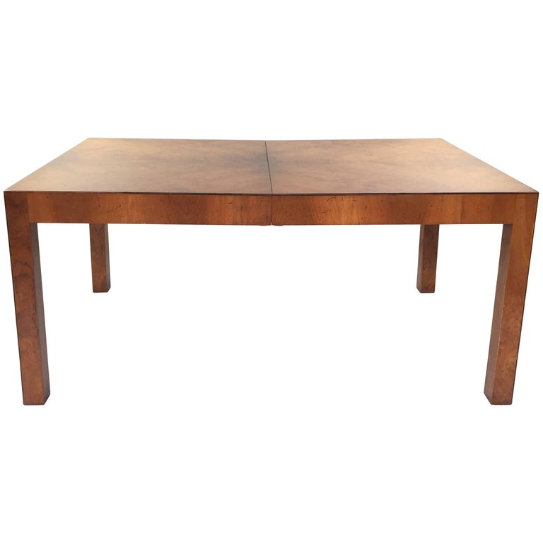 Refinished milo baughman dining table at 1stdibs for Refinished dining room table