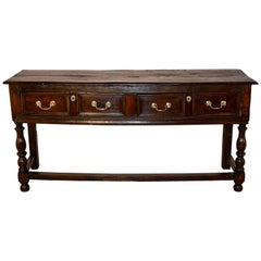 Early 18th Century English Oak Sideboard