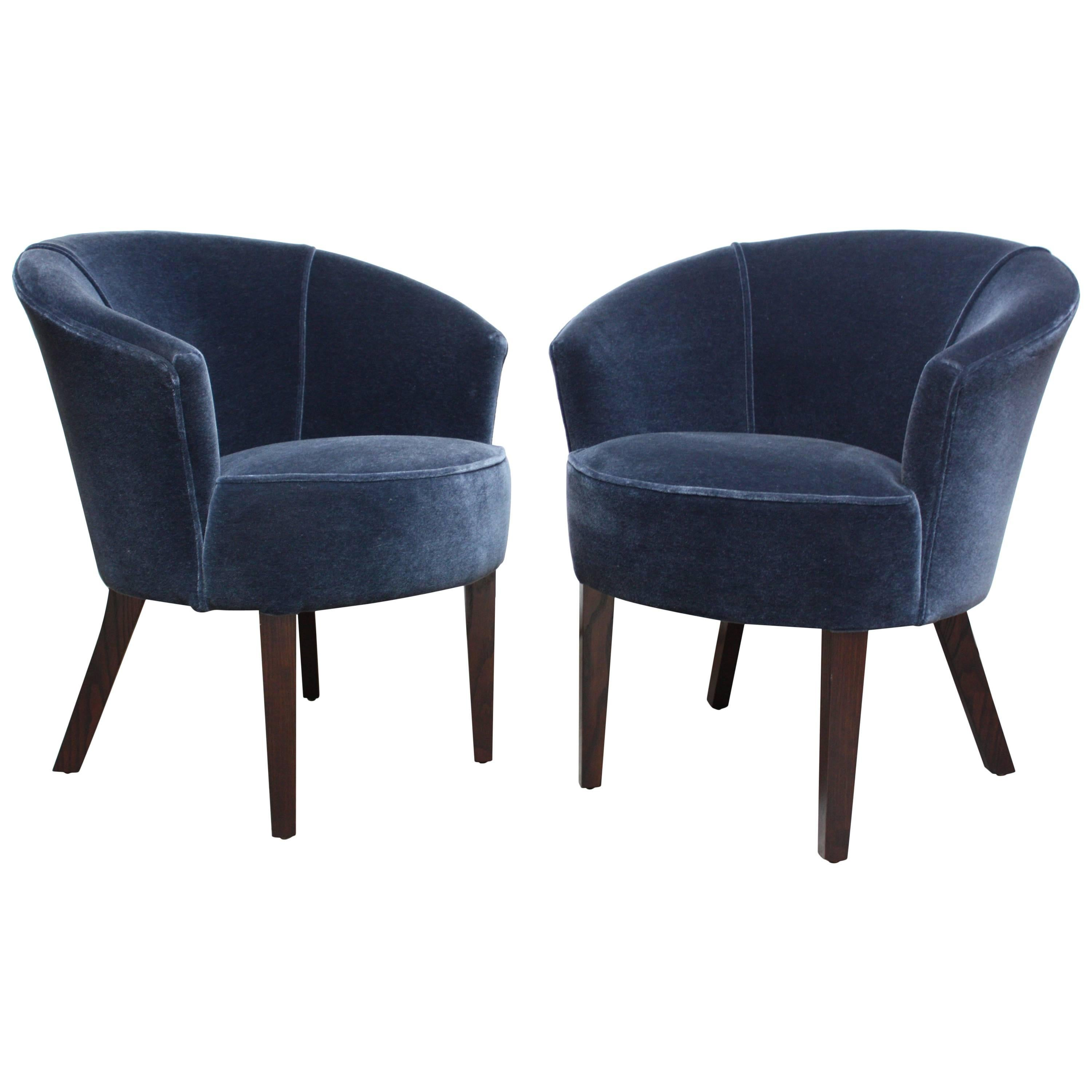 Pair Of English George Smith U0027Petworthu0027 Tub Chairs In Mohair ...
