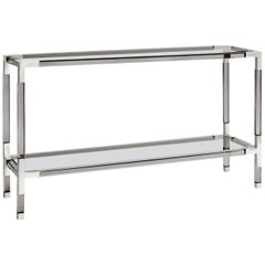 Jacques Console in Smoke Lucite and Nickel