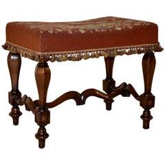 19th Century French Mahogany Stool