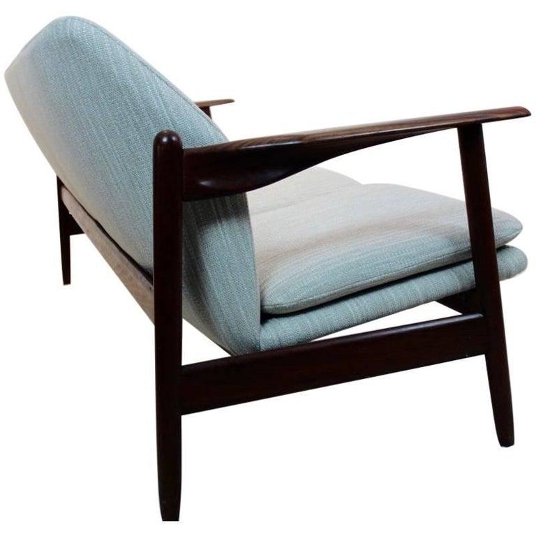 Magnificent Three-Seat Teak Sofa by Propos Hulmefa, Dutch Design 1950s