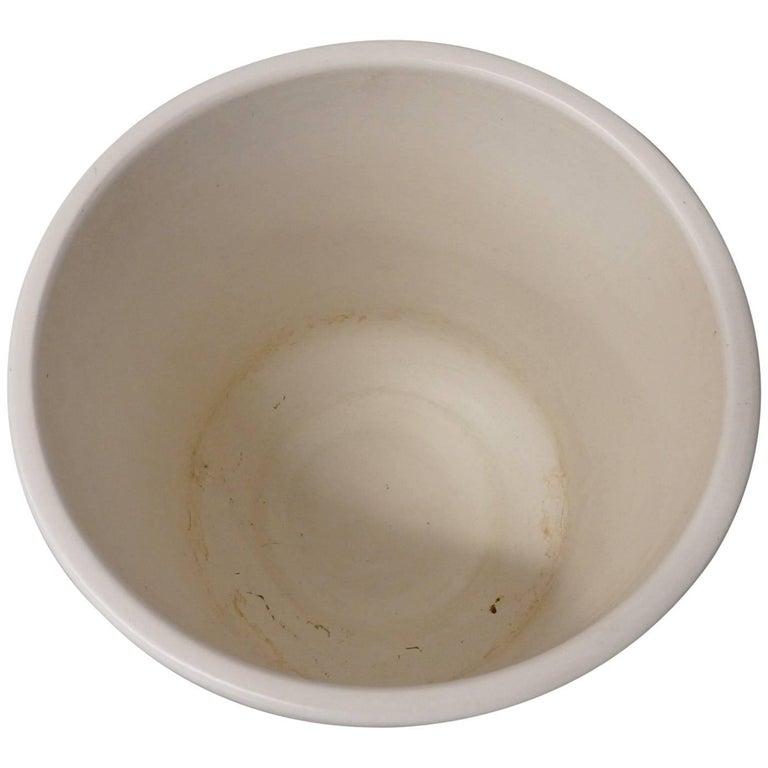 Matte White Malcom Leland Architectural Pottery Planter Pot