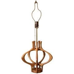 Sculptural Tall Mid Century Modeline Lamp
