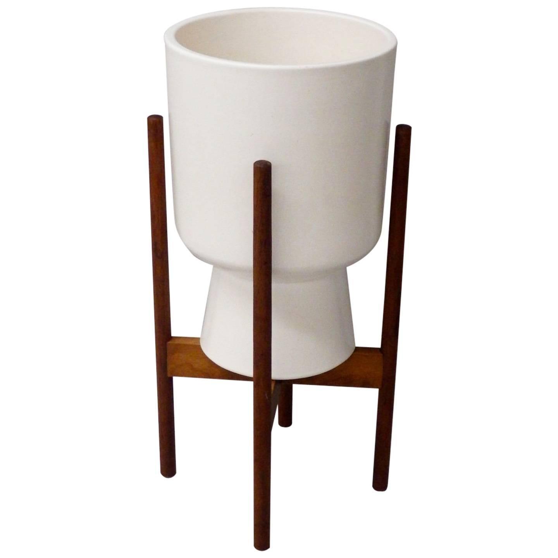 Malcom Leland White Architectural Pottery Planter Pot