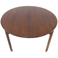 Stildomus Round Rosewood Dining Table with Butterfly Leaf, Italy, circa 1960s