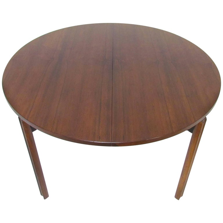 Stildomus round rosewood dining table with butterfly leaf for Round table with butterfly leaf