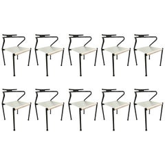 Set of Ten Postmodern Dining Chairs by Cidue, Italy